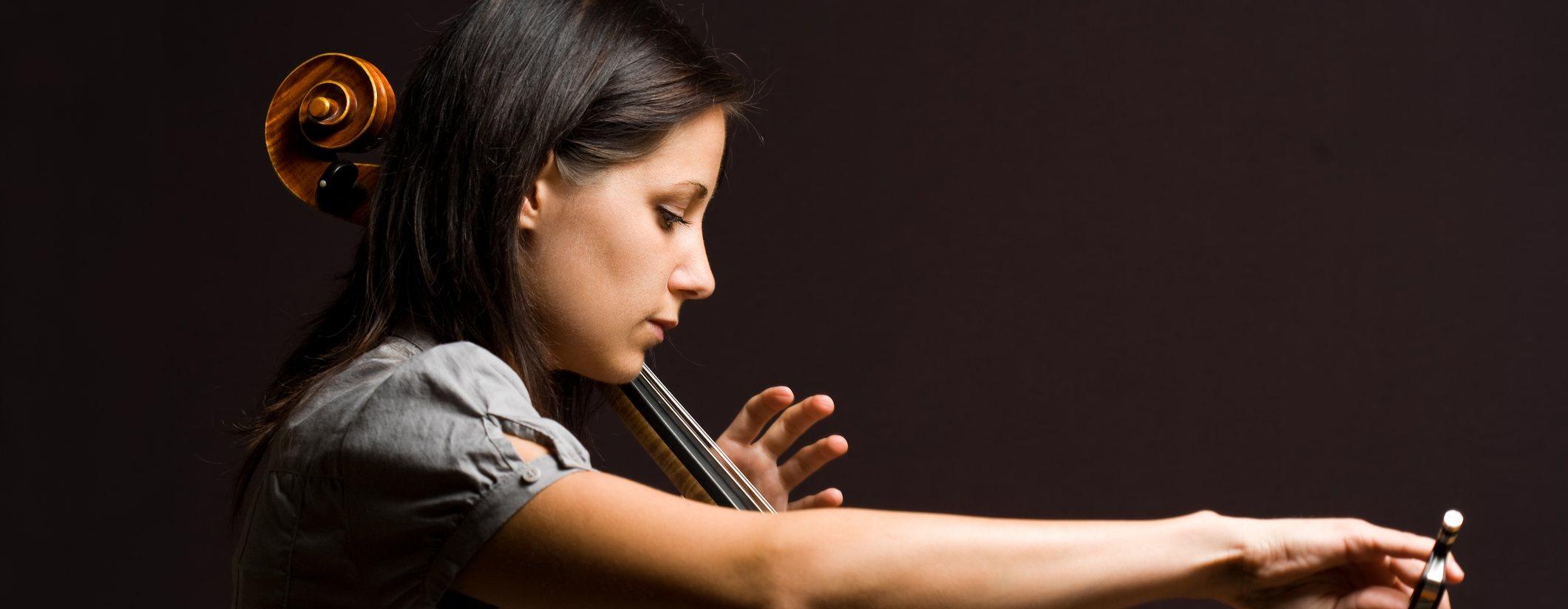 Girl playing cello.